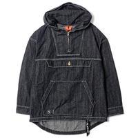 FLATLUX Sly Denim Anorak Jacket (black)