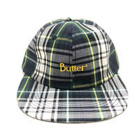 BUTTER GOODS PLAID 6 PANEL CAP (WHITE, NAVY)