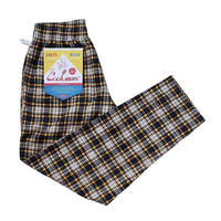 Cookman Chef Pants Corduroy Tartan (YELLOW)
