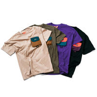 FLATLUX Aqua Pocket3 Tee (sandstone, moss, purple, black)