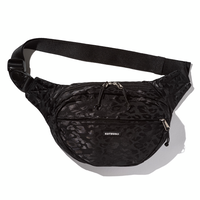 坩堝 RUTSUBO LEOPARD WAIST BAG (BLACK, GOLD, CHARCOAL)