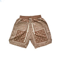 MAD EFFECT PAISLEY SHORTS (BLACK, ARMY, CAFEBROWN)