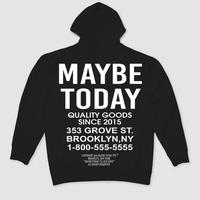 MAYBE TODAY LOGO HOODIE (BLACK)