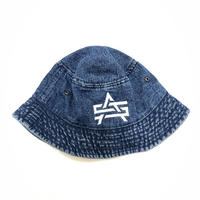 ATTACK ORIGINAL AS LOGO DENIM HAT (BLUE)