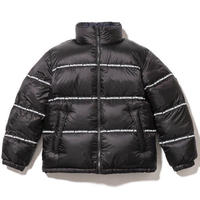 FIRST DOWN TAPE  REVERSIBLE BUBBLE DOWN JACKET (BLACK/NAVY)