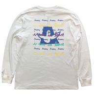 MARK GONZALES Happy Angels Pt. L/S TEE (WHITE)