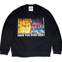ATTACK ORIGINAL HAVE YOU EVER SEEN? CREW NECK SWEAT (NAVY)