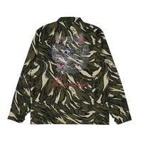 RIPNDIP TIGER NERM RIPSTOP WORK JACKET (GREEN CAMO)