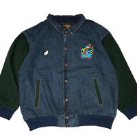 ATTACK  ORIGINAL 陰陽2005 x キョ◯シー DENIM  JACKET (GREEN)