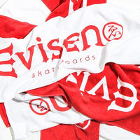 Evisen Skateboardsゑ Evi LOGO TOWEL (WHITE, RED)