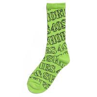 40s & Shorties Mobb logo socks (SAFETY GREEN, BLACK)