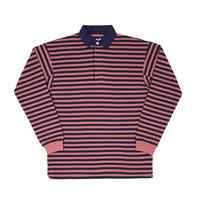 ONLY NY STRIPE PREMIUM KNIT RUGBY (SAGE, NAUTICAL RED)