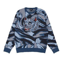 RIPNDIP TIGER NERM KNIT SWEATER (LIGHT BLUE CAMO)