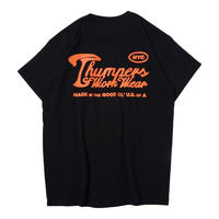 THUMPERS NYC  WORK LABEL HEAVYWEIGHT TEE (BLACK)