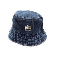 ATTACK ORIGINAL AS LOGO DENIM HAT (BLACK, BLUE)