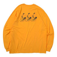 THUMPERS NYC 666 HEAVY WEIGHT L/S TEE (YELLOW)