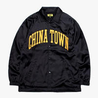 CHINATOWN MARKET SATIN JACKET (BLACK)