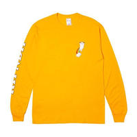 RIPNDIP DOUBLE NERM RAINBOW L/S (GOLD)