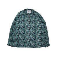 JOHN SOFIA Endless Summer Garden Half Zip  LS Shirt  (BLUE, GREEN, GREY)