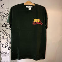LONELY論理  LEGEND COMEDY CHANNEL TEE (DARK GREEN , BLACK)