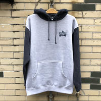 ATTACK ORIGINAL TWO-TONE HOODIE (GRYxNVY, GRYxBURGUNDY, GRYxBLK, D.GRYxBURGUNDY, D.GRYxBLK)