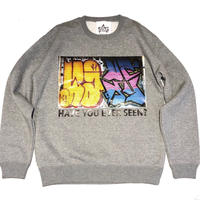 ATTACK ORIGINAL HAVE YOU EVER SEEN? CREW NECK SWEAT (GREY)
