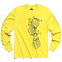 CHINATOWN MARKET SMILEY INKJET L/S (YELLOW, BLACK)