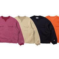 EVISEN / DOUBLE FLAP CREW SWEAT (Azuki, Beige, Black, Orange)