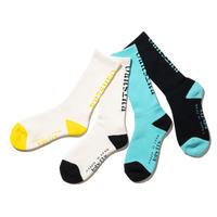 坩堝 RUTSUBO OG SOCKS (WHITE/YELLOW, WHITE/BLACK, MINT/BLACK, BLACK/MINT)