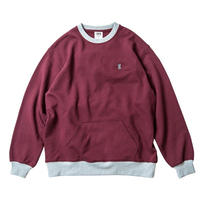 TIGHT BOOTH CONTRAST CREW SWEAT (Navy, Wine)