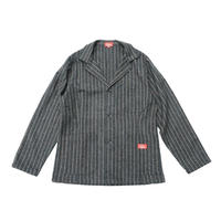 Cookman Lab.Jacket 「Wool mix Stripe」 (Gray)