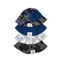 JOHN SOFIA PAISLEY HAT (CRAZY, BLUE, WHITE, BLACK)