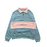 JOHN SOFIA Half Zip Sweat (Blue)