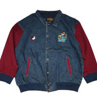 ATTACK ORIGINAL 陰陽2005 x キョ◯シー DENIM JACKET (BURGUNDY)