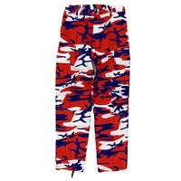 ROTHCO COLOR CAMO TACTICAL BDU PANTS (RED/WHITE/BLUE)
