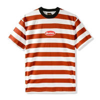 BUTTER GOODS BADGE STRIPE TEE (RUST, NAVY, ICE)