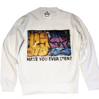 ATTACK ORIGINAL HAVE YOU EVER SEEN? CREW NECK SWEAT (WHITE)