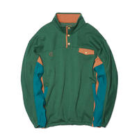 Evisen Skateboardsゑ DON BUTTON SWEAT (GREEN)