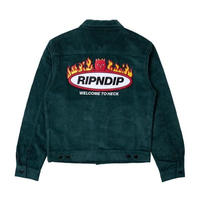 RIPNDIP WELCOME TO HECK CORDUROY JACKET (HUNTER GREEN)