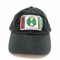 CROSS COLOURS CLASSIC WOVEN LABEL DAD HAT (BLACK)