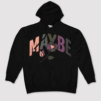MAYBE TODAY Embroidered Rose Hoodie (BLACK, WHITE, YELLOW)