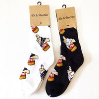40s&Shorties BIG POPPA SOCKS (WHITE, BLACK)