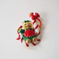 AJC 猫 キャット クリスマス キャンディ ブランコ ブローチ  / ヴィンテージジュエリー