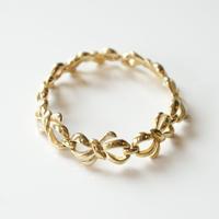 Special price【スペシャル プライス】TRIFARIトリファリ ゴールド  リボン ブレスレット / ヴィンテージ・コスチュームジュエリージュエリー