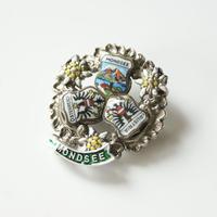 Special price【スペシャル プライス】オーストリア  紋章 エーデルワイス トラベルブローチ/ ヴィンテージ・コスチュームジュエリー