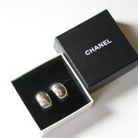 CHANELシャネル  シルバー925 フープイヤリング 箱BOX付き/ ヴィンテージ・コスチュームジュエリー
