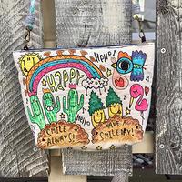 サボテン&パイナップル刺繍ショルダー