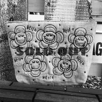 フラワー刺繍デニムショルダー