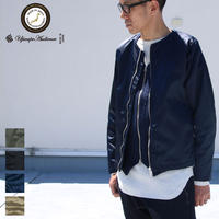 [AUD2721] Upscape Audience ヴィンテージナイロンツイル ノーカラーJacket
