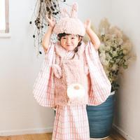 【90-100】rabbit's 2step kimono